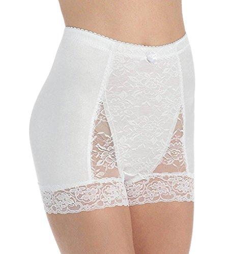 Rhonda Shear Pin-Up Lace Tummy Control High-Waist Boyshort, M, White