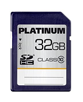 Platinum 32GB SDHC - Tarjeta de Memoria SecureDigital de 32 GB (Clase 10), Azul