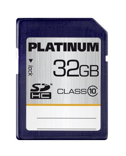 Platinum 32GB SDHC - Tarjeta de Memoria SecureDigital de 32 GB (Clase 10), Azul
