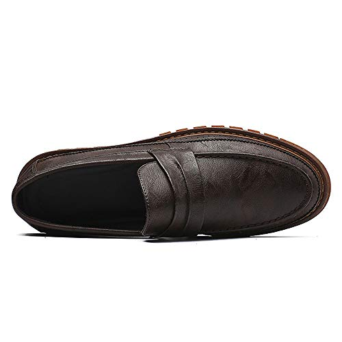 Ofgcfbvxd Formal EU Respirable Oxford Calzado Formal Marrón Flexible Marrón y 44 de tamaño Color Martin Casual Shoes Suela Hombre holgazán Plano Negocios XrxqYwrR