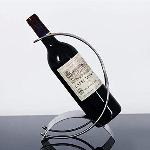 Stainless Steel Single Bottle Countertop Wine Holder, Free Standing Metal Wine Rack for Table Top Wine Bottle Storage Rack Perfect Wine Holder Stand