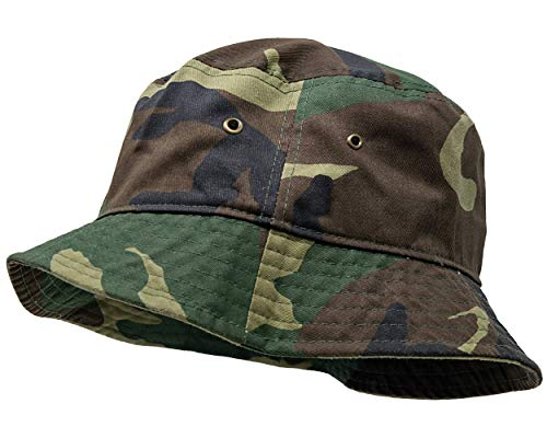 SH-220-84-LXL Vintage Fitted Safari Bucket Hat: Woodland Camo (L/XL)]()