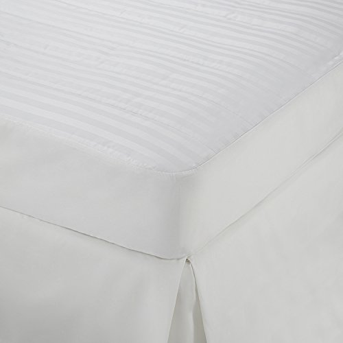Martex Damask Stripe Mattress Pad Topper, Twin - Cotton Damask Mattress Pad