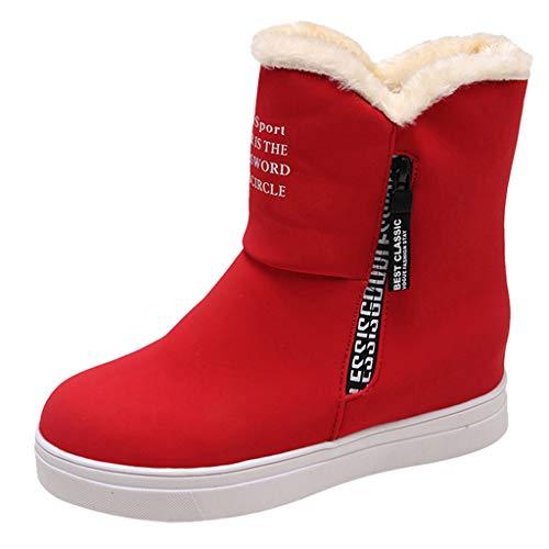 Neve Velluto Stivali Modaworld Scarpe Tenere Donne Caldo Stivaletti Invernali Autunno Racchette Rosso Donna tempo Da Piatto Libero Cerniera Rotonda Inverno E Panno UgUBHRqw