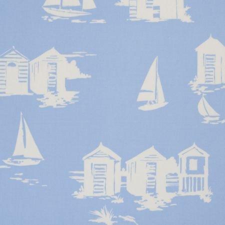 Karina Home Brillante Azul de casetas de Playa algodón PVC Mantel de Hule 200 cm x 132 cm: Amazon.es: Hogar