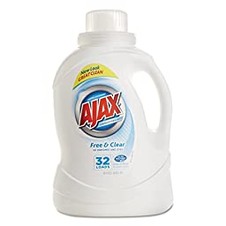 Ajax PBC 49551 2Xultra Liquid Detergent, Free and Clear, 50 oz. Bottle (Pack of 6)