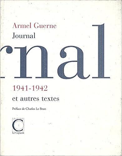 Télécharger en ligne Journal 1941-1942 et autres textes pdf ebook
