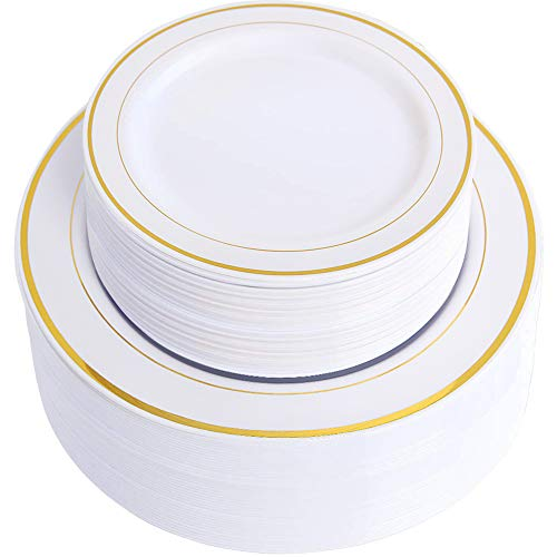Heavyweight White Plastic Plate - 4