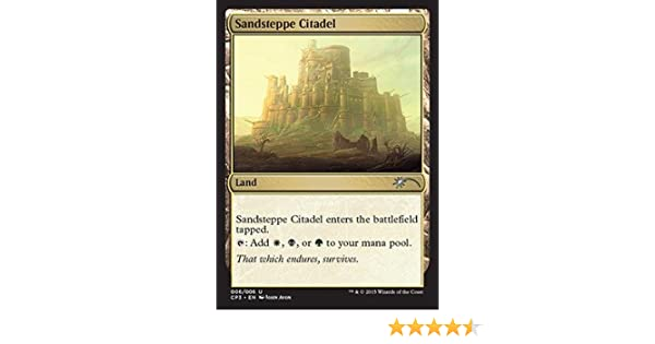 Magic: the Gathering - Sandsteppe Citadel (006/006) - Clash Pack Promos - Foil by Wizards of the Coast: Amazon.es: Juguetes y juegos