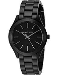 Michael Kors Womens Mini Slim Runway Black Watch MK3587