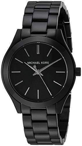Black Womens Watch (Michael Kors Women's Mini Slim Runway Black Watch)