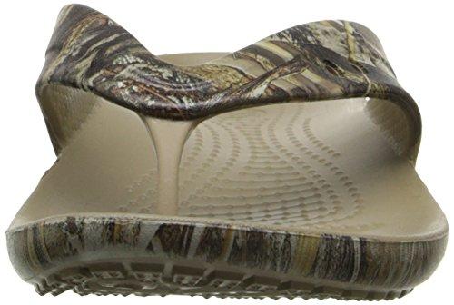Khaki 5 Realtree Crocs Max Flop Flip Kadee Women's FqHvwxZ47