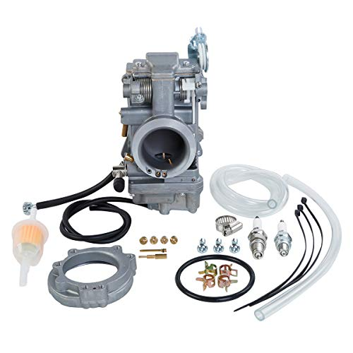 XMT-MOTO 42mm Carb Carburetor Easy Kit Fit For Harley EVO Evolution Twin Cam Fat Boy