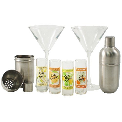 Stoli Vodka Martini 8 Piece Cocktail Set