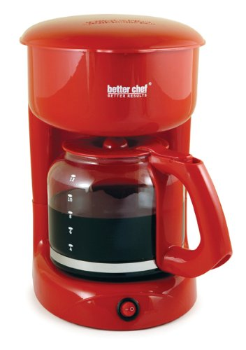 Better Chef 12-Cup Coffee Maker, Red