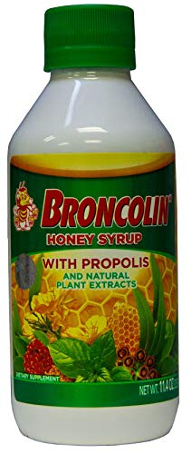 (Brocolin Honey Syrup with Propolis | Nutritional Herbal Supplement with Honey, Propolis, and Plant Extracts; 11.4 Oz)