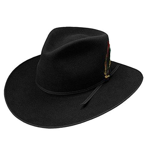 Stetson Cowboy Hat 4X Beaver Fur Felt Dune Black