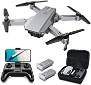 Tomzon D25 4K Drone with Camera, Easy to Fly FPV Foldable Drone for Adults, Optical Flow Positioning, Headless