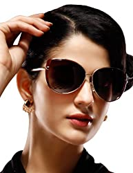 Maxchic Women's Polarized Aviator Sunglasses Sleek Summer Sunnies MCG6102,Burgundy