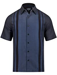 All Mixed up Short Sleeve Button up Shirt - NAT Blue