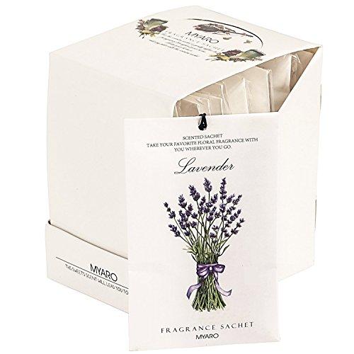 Drawer Sachet ([Best Gift] MYARO 12 Packs Lavender Scented Sachets for Drawer and Closet MR-01)