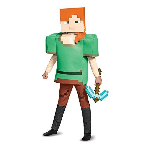Alex Deluxe Minecraft Costume, Multicolor, Large (10-12) (Mine Craft Costume)