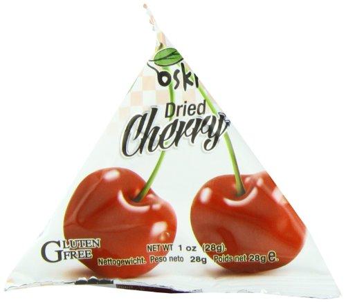 Oskri Pyramid Snacks, Cherries, 1 Ounce (Pack of 12)