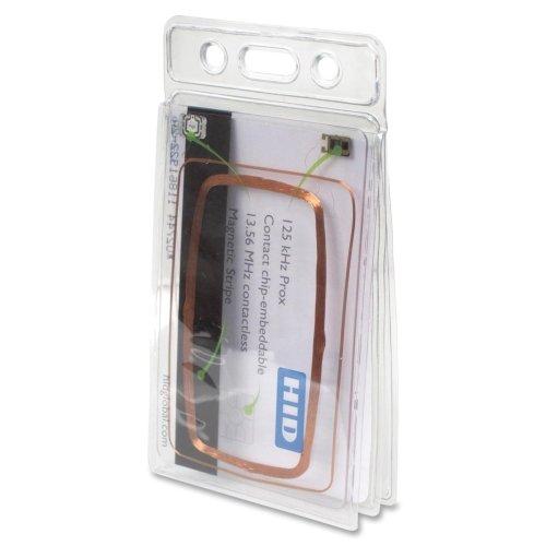 BAU67520 - Baumgartens Vinyl Two-Badge Smart Card Holder