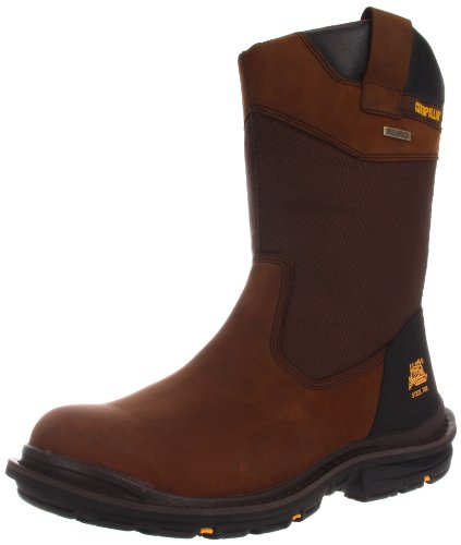 Caterpillar Men's Grist Waterproof Steel Toe Work Boot,Dark Brown,9 M US (Cat Safety Boots)