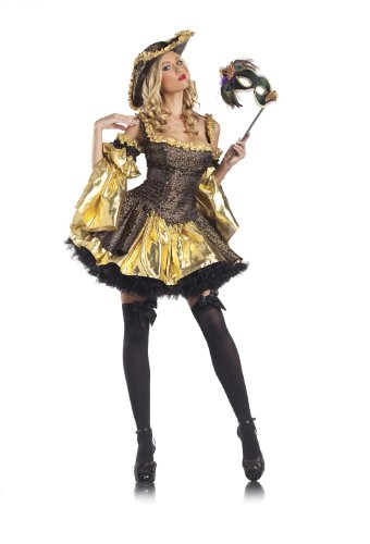 Marie Antoinette Costume Child (Be Wicked Costumes Women's Antoinette Costume, Black/Gold/Pink, Small/Medium)
