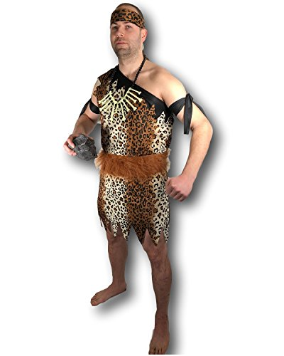 Cave Man Outfit (Rubber Johnnies Caveman Costume, Cave Man, Neanderthal Man, Adult Dress Up, Bachelor)