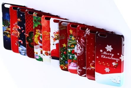 Top Seller- Killer Kase Holiday Series Christmas iPhone 6 (4.7) Case, iPhone 6 Christmas Cover, brighten the holidays and celebrate Christmas with Santa, Christmas Trees! (Merry Christmas Tree) PRIME ELIGIBLE!
