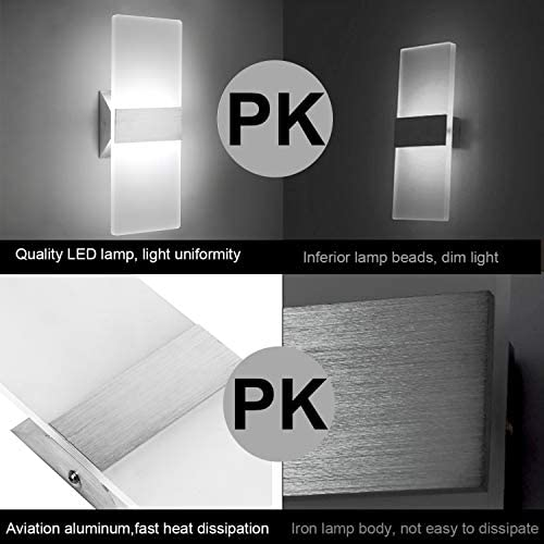 tools, home improvement, lighting, ceiling fans, wall lights,  wall lamps, sconces 1 image LED Wall Sconce Modern Wall Light Lamps 12W promotion