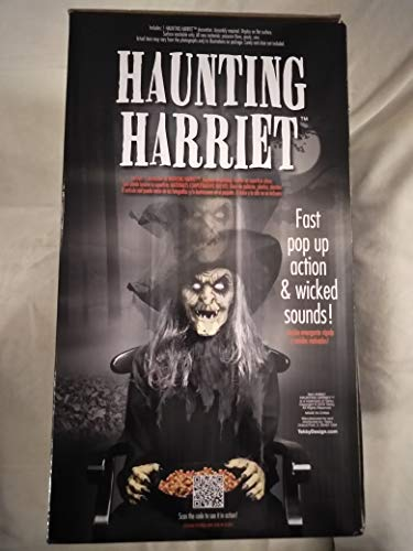 Animatronics Halloween Prop Decor Haunted House Super Scary Haunting  Harriet Witch, Wicked Sounds, Fast Pop-Up Action, Reach Into Candy Bowl and  Witch