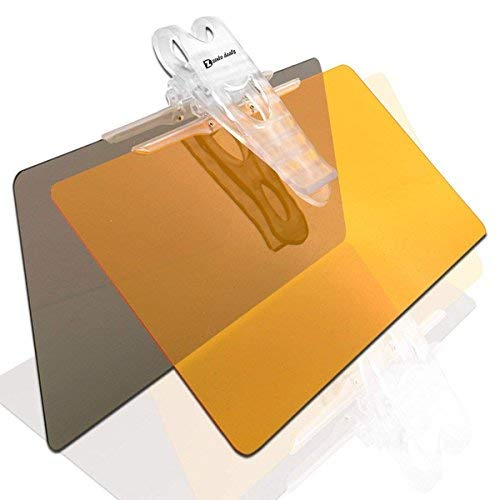 Zento Deals Large Windshield Car Sun Visor Clip Extender Transparent Day and Night Anti-glare
