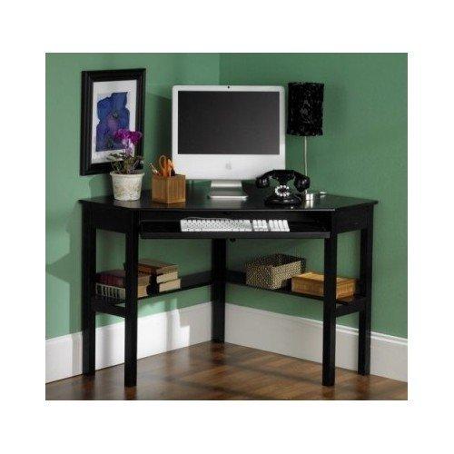 Black Corner Office Dorm Desk uptown home