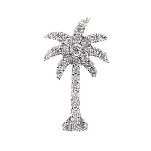 t Diamond Palm Tree Pendant with 18