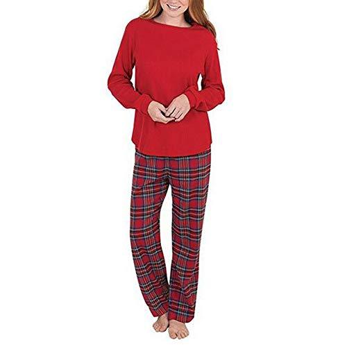notte Mom Pantaloni Dad biancheria da per Donne indumenti PJs Natale lunga Plaid Camicetta bambini pigiama Famiglia notte Xinvision e da da Baby Vacanza Manica Set Suit Xmas gqAB0wxU