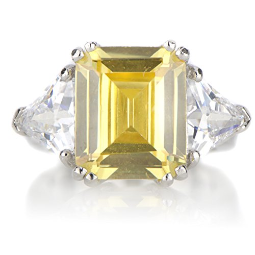 Juniper's Asscher Cut Canary CZ Cocktail (Canary Cocktail Ring)