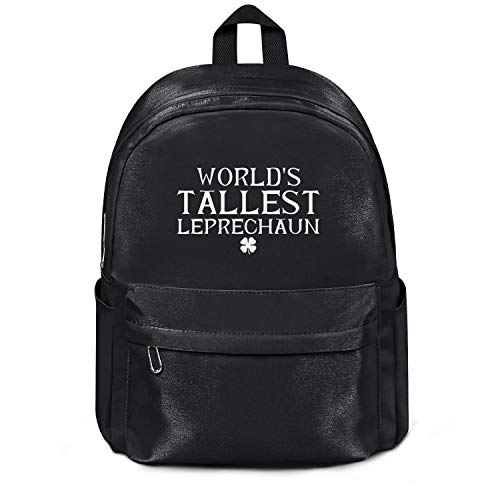 World's Tallest Leprechaun St Patricks Day College Bookbag Classic Nylon Water Resistant 13 Inch Laptop Compartment Backpack Bag Purse for Men Women and Kids