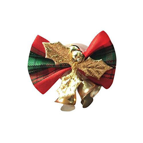 Dreamyth Function Merry Christmas Car Flower Outlet Fragrant Perfume Clip Air Freshener Diffuser (Green)