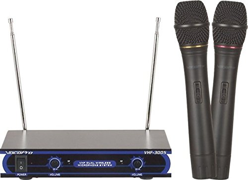 VocoPro VHF-3005 Dual Channel VHF Wireless Microphone System