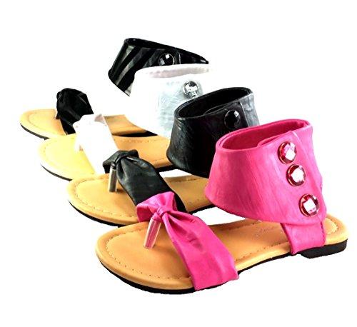 Girl's Cute Toe Strap Velcro Spring/Summer Sandals (4, - Styles Spring