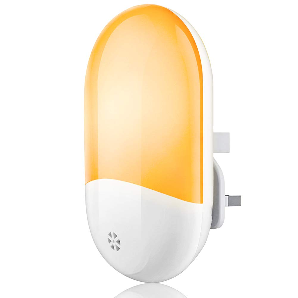 Night Light for Kids, EMIUP Plug-in LED Night Light, Automatic ON/Off Dusk to Dawn Wall Lights, Night Lamp for Bedroom, Baby Room, Bathroom, Corridor, Aisle, Stair (Warm White)