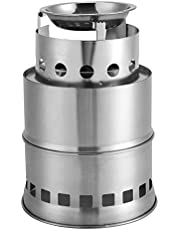 Outdoor Wood Stove Stainless Steel BBQ Portable Stove Detachable Mini Stove for Picnic Camping