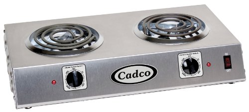 - Cadco CDR-1T Countertop Double 120-Volt Hot Plate