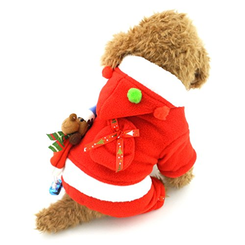 SMALLLEE_LUCKY_STORE Mrs Claus Dog Costume Dog Xmas