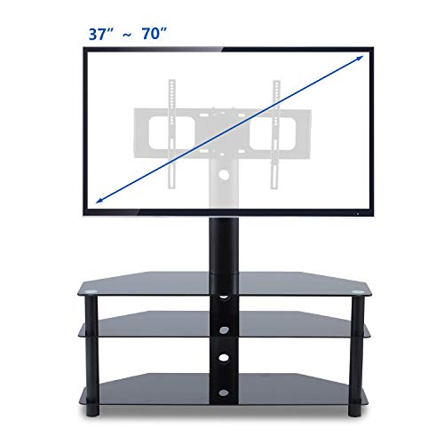 TAVR TV Stand with Swivel Mount 3-in-1 Flat Panel Stand for Most 37-70 inch Plasma LCD LED Flat/Curved Screen TVs,VESA Patterns up to 600mmx 400mm (Stands Small Very Tv)