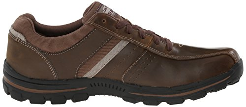 Skechers Usa Mens Braver Alfano Oxford Marrone Scuro