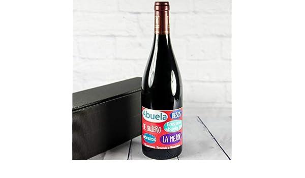 Regalo Personalizado para una Abuela: Botella de Vino con Mensajes Bonitos y Personalizable con la dedicatoria Que tú Quieras: Amazon.es: Hogar